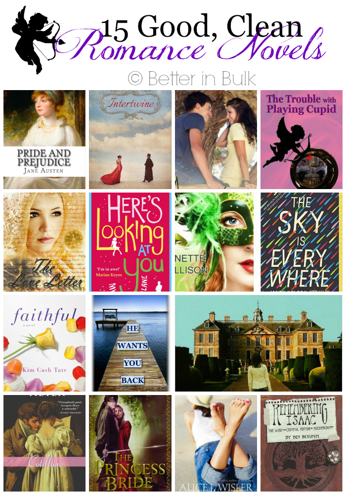 15 Good, Clean Romance Novels for Valentines Day